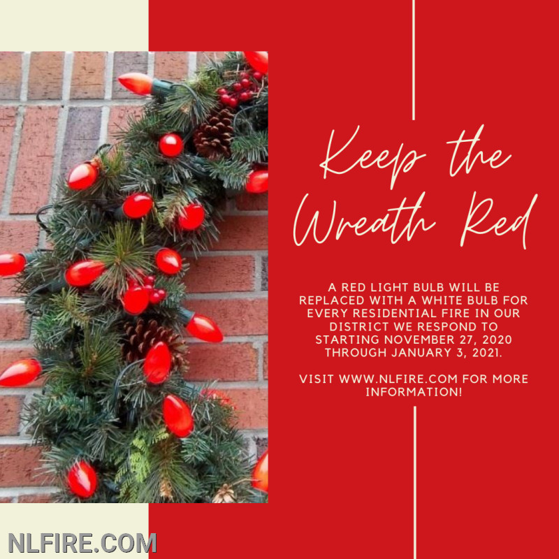 Keep the wreath red poster